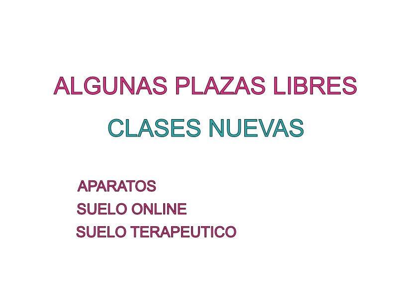 Pilatesplaza Plazas Libres